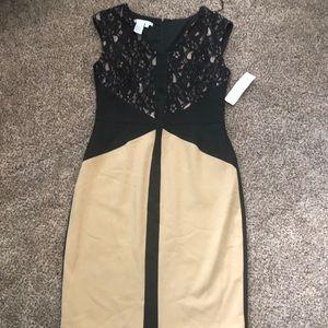 Designer contrast dress